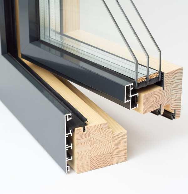 Duoline System aluminiowo - drewniany