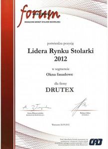 Dyplom Lider Rynku 2012